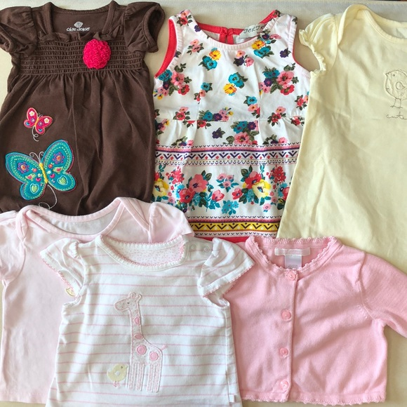 3e6f5e3d8aed9 Lot of Newborn to 3-6 Months Old Baby Girl Clothes